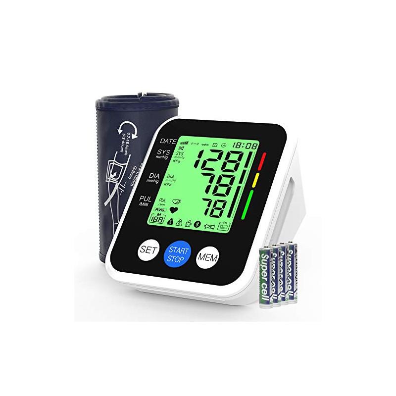 Tensiómetro de Brazo, AUCEE Tensiómetro de Brazo Digital con Detección de Arrítmia y Pantalla 3.5 Gran pantalla LED retroil