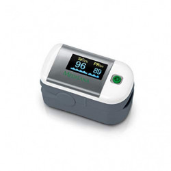 Medisana PM 100 Oxímetro de pulso, medición de la saturación de oxígeno en sangre, oxímetro de pulso de dedo con pantalla OLE