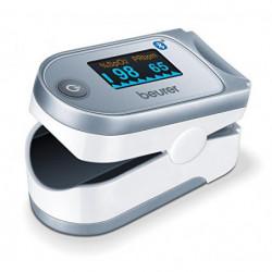 Beurer IPO61 BT Pulsioxímetro de dedo con Bluetooth, medidor de saturación de oxigeno en la sangre y el pulso, 6 vistas, app