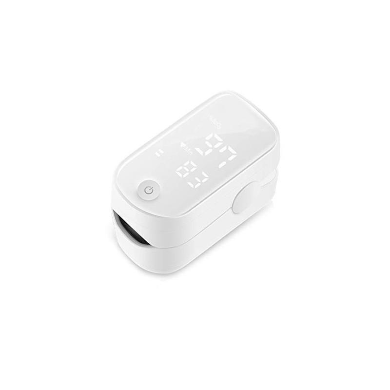 LTLCBB Oxímetro de Pulso,Medidor Digital de Oxígeno en Sangre y Sensor de Pulso con Alarma SPO2 para el Hogar, Fitness y Depo