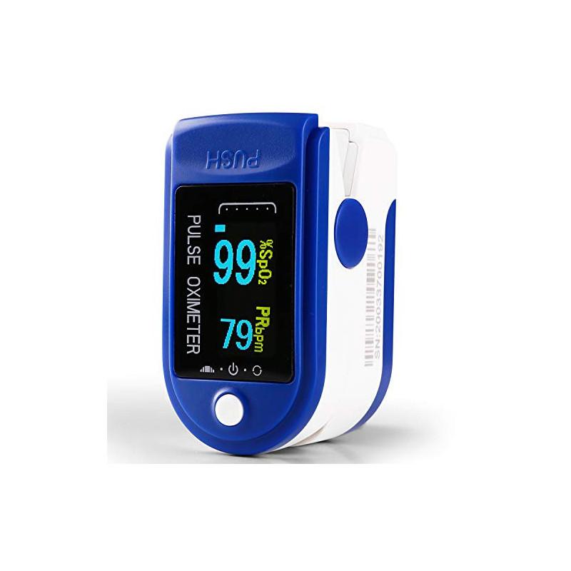 Oxímetro Dedo con Pantalla LCD Pulsioxímetro de Pulso para Medición de SpO2 con Alarma y 4 Direcciones Giratorias Certificado