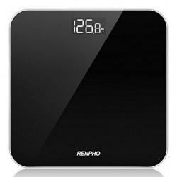 Báscula De Baño Digital RENPHO, Báscula De Peso Corporal De Alta Precisión Con Pantalla Iluminada, Tecnología Step-On, 400 Lb