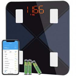 BasculadeBaño, BásculaInteligente Bluetooth Mpow BásculaGrasaCorporal Digital,13 Mediciones Esenciales: BMI, Grasa Corpo