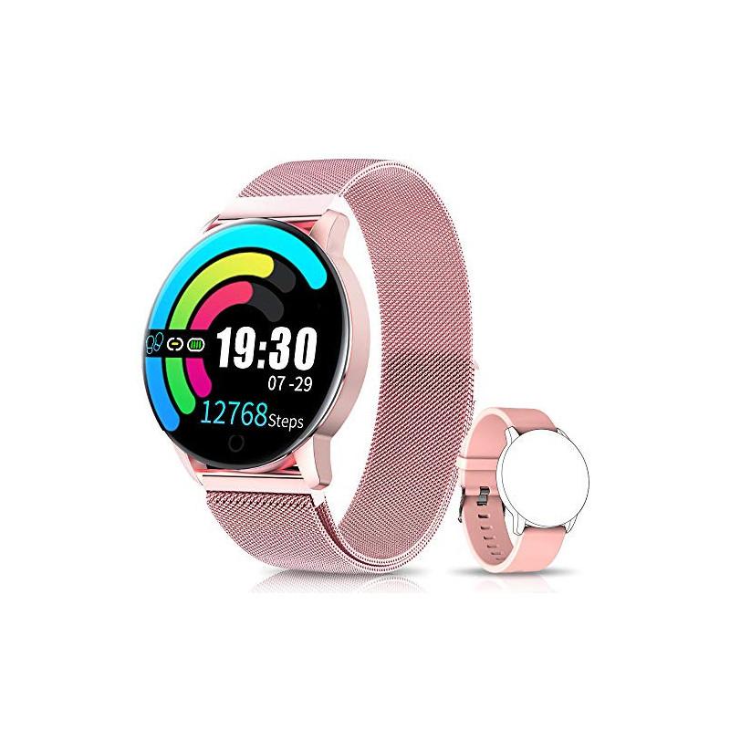 NAIXUES Smartwatch, Reloj Inteligente IP67 con Presión Arterial, 10 Modos de Deporte, Pulsómetro, Monitor de Sueño, Notificac