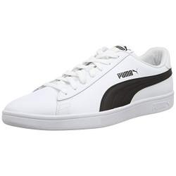 PUMA Smash V2 L, Zapatillas Unisex Adulto, Blanco White Black, 44 EU