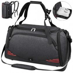 NUBILY Bolsa Deporte Hombre Bolsas Gimnasio Mujer Bolso Fin de Semana Viaje con Compartimento para Zapatos Gym Bag Impermeabl