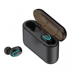 COOLEAD Mini Auriculares Inalambricos Bluetooh 5.0 Invisibles con Caja de Carga para iPhone,Android Deportes,Reunión  un par,