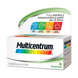 Multicentrum, Complemento Alimenticio con 13 Vitaminas y 11 Minerales, Adultos y adolescentes a partir de 12 años, 90 Comprim