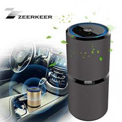 ZEERKEER purificador de aire ionizador de coche, elimina el polvo, el humo del cigarrillo, los malos olores, libera aniones,