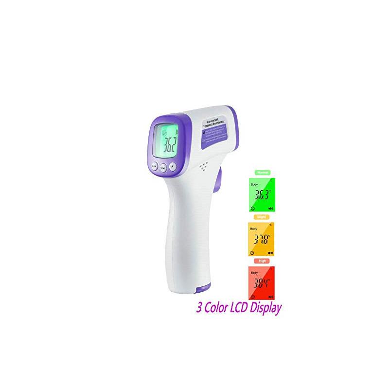 Termómetro infrarrojo médico sin contacto con lecturas digitales precisas para adultos y bebés