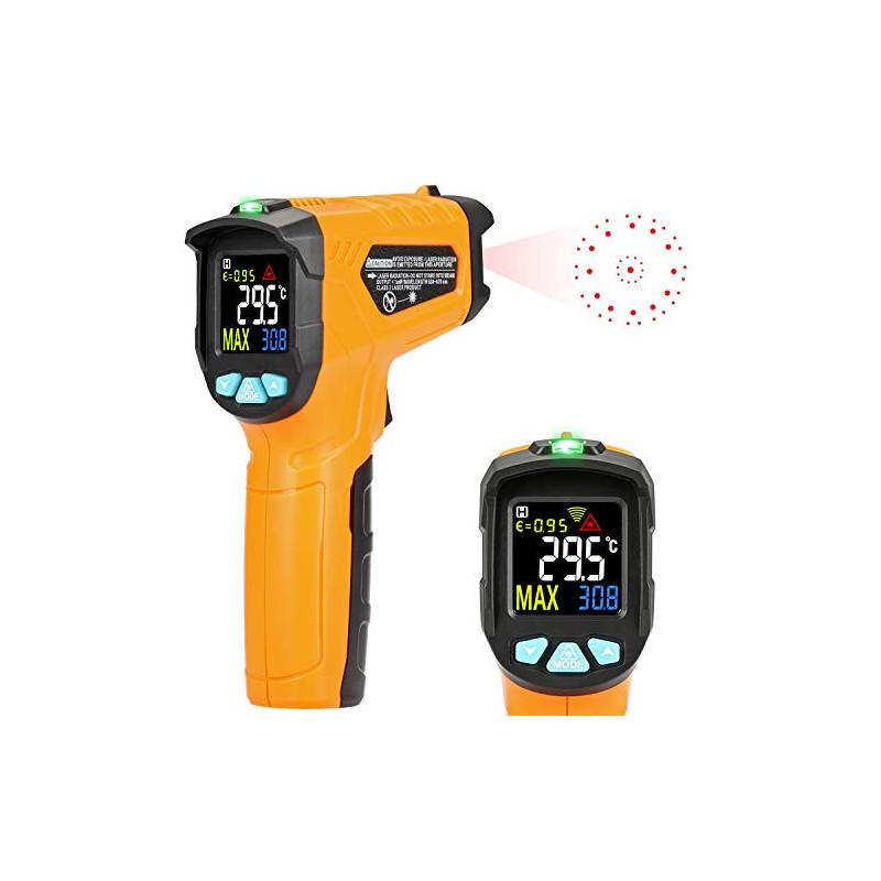 Termómetro de infrarrojos Kasimir AD-50-58 ° F ~ 1112 ° F Digital láser sin contacto infrarrojos pistola de temperatura panta