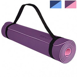 TOPLUS Esterilla Yoga Antideslizante Nivel Profesional Alfombrilla de Yoga Esterilla Pilates Esterilla Deporte- con Correa de