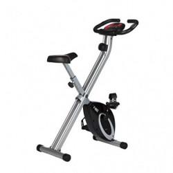 Ultrasport F-Bike Bicicleta estática de Fitness, Aparato doméstico, Plegable con Consola y sensores de Pulso en Manillar, sin