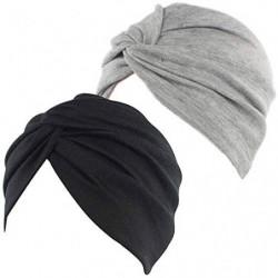 2 Piezas Pañuelos Oncológicos Turbante Gorros Oncológicos Mujer Pañuelos Quimioterapia Cabeza Mujer Algodón Elástico Frontal