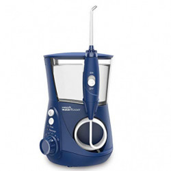 Waterpik WP-663EU Aquarius - Irrigador dental,  100-240V,  depósito de agua de 650 ml,  Azul