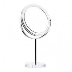 Auxmir Espejo de Maquillaje con Aumento 1X / 10X, Espejo Cosmético de Doble Cara, Espejo de Mesa con Rotación de 360° para Ma