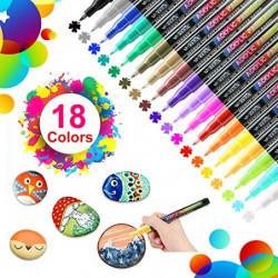 18 Colores Rotuladores de Pintura Acrílica Rotuladores Permanentes de Colores Rotuladores Acrilicos Permanentes Pintura para