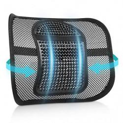 RenFox Cojín Lumbar Soporte para la Espalda Lumbar Soporte para Silla de Oficina Coche corrige la Postura Alivia el Dolor Lum