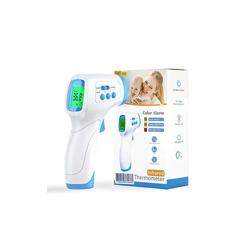 Termómetro infrarrojos IDOIT termómetro de frente sin contacto para adultos niños bebé Termómetro digital con alarma de fiebr