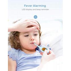 Termómetro digital CocoBear, termómetro para adultos, niños y bebés para medicina digital rectal y oral para la fiebre, rápid