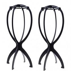 2soportes para peluca o sombrero, plegables, de plástico, ideal como secador de peluca