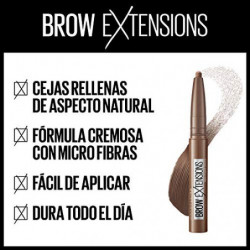 Maybelline New York Brow Extensions Stick de Cejas Tono 07 Black Brown  Marrón